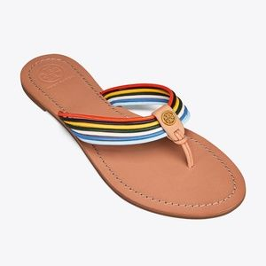 Tory Burch Sienna multi-colored thing sandal